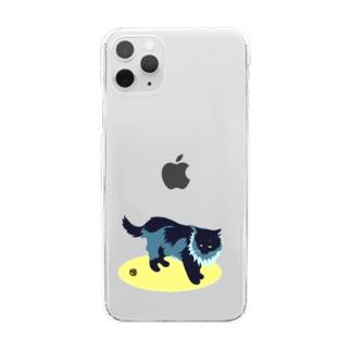 たてがみのある猫 Clear smartphone cases