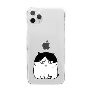 ふしぎ猫 コムちん Clear smartphone cases