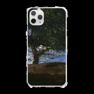 甕邨(ようそん)の丘と木 Clear smartphone cases