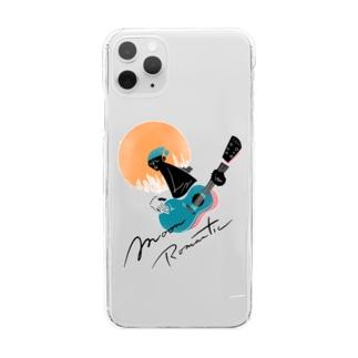 ムーンロマンチスト Clear smartphone cases