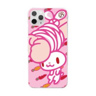 【各20点限定】汎用うさぎ(1/pink) Clear smartphone cases