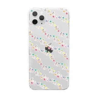 ぴょんぴょこ Clear smartphone cases