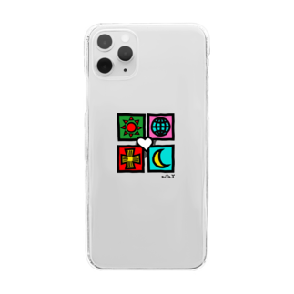 ゴータ・ワイのユニバース(手描風)  Clear smartphone cases