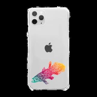 切り絵ariのシーラカンス Clear smartphone cases