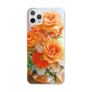 「花束をキミに」~orange~ Clear smartphone cases