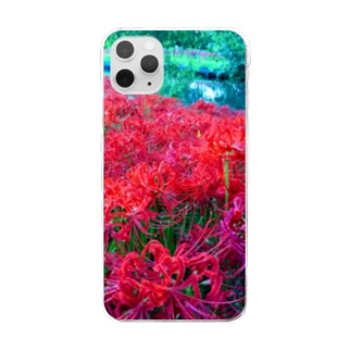 Cluster-Amaryllis~彼岸花~ Clear smartphone cases