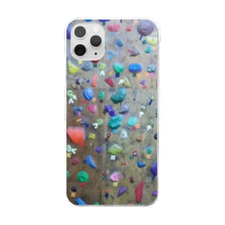 bouldering~素敵な凹凸~ Clear smartphone cases