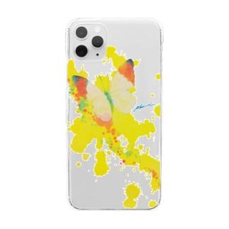 これから出逢う黃色の蝶 Clear smartphone cases
