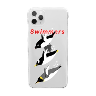 Swimmers red Clear smartphone cases