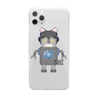 ロボ男 Clear smartphone cases