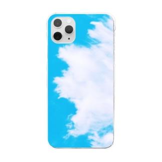 Sayakaの綿雲 Clear smartphone cases