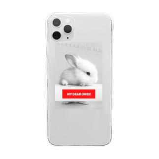 フィボナッチのウサギ Clear smartphone cases