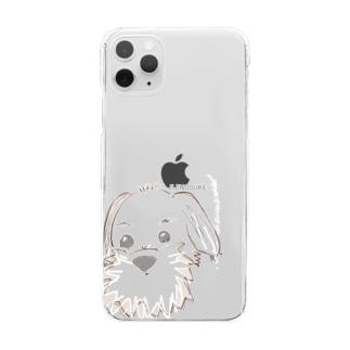 癒しのジジのすけ Clear smartphone cases