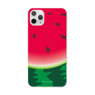 スイカ柄6*クリアケース Clear smartphone cases