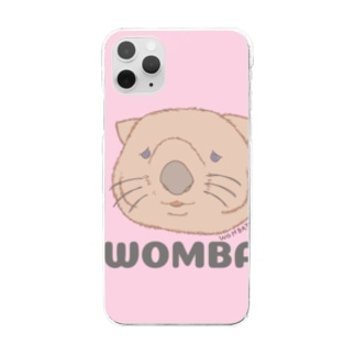 WOMBAT🌸PINK    Clear smartphone cases