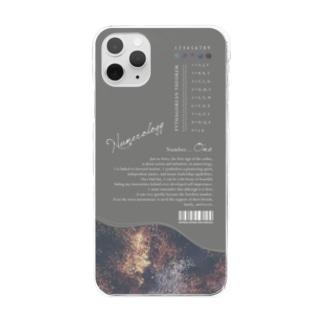 TANA_DESIGN_HONPOの「 1 」の魅力に埋もれるiPhoneケース Clear smartphone cases