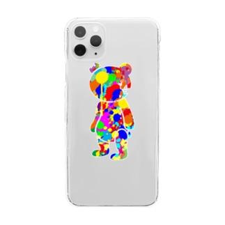 ペンキくま Clear smartphone cases