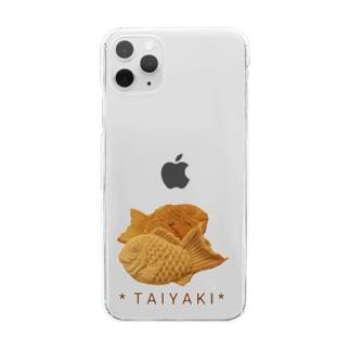 鯛焼き(写真) Clear smartphone cases