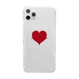脈打つHeart Clear smartphone cases