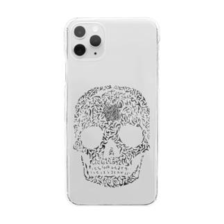 骸骨描いてみました Clear smartphone cases