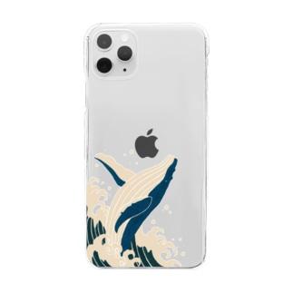 シロナガスクジラ Clear smartphone cases