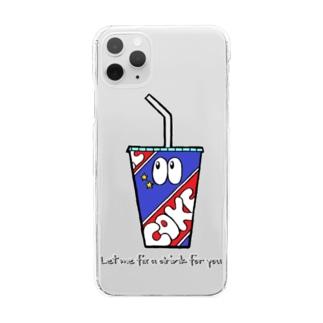 コーラ/モンスター Clear smartphone cases