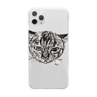 ちまきグッズの数々 Clear smartphone cases