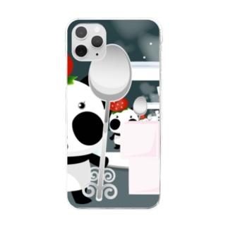 ズレぱんだちゃん Clear smartphone cases