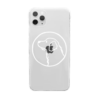 ゴールデン・レトリーバー〈白線・円〉 Clear smartphone cases