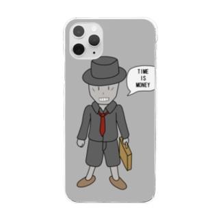 働き者~Hard worker~ Clear smartphone cases