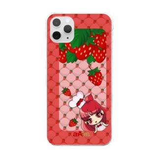 フルちびっ*ちびいちご* Clear smartphone cases