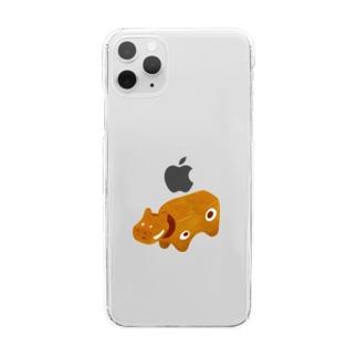 かんてつあかべこ Clear smartphone cases