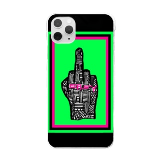 """PUNX in doorS ファック""""EASY""""ロゴ iPhoneカバー Clear smartphone cases"""