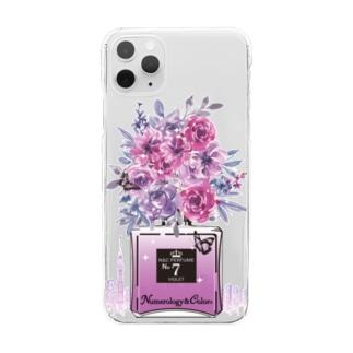 アンドアイデザイン 数秘&カラー🄬オマージュボトルNo7&VIOLET Clear smartphone cases