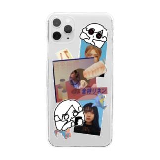 倉持リネンの物販のステッカー風ケース Clear smartphone cases