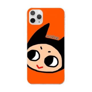 あくまのアイコンちゃん(たてなが) Clear smartphone cases