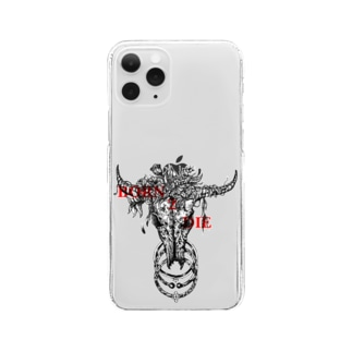 🌹BORN 2  DIE💀 Clear smartphone cases