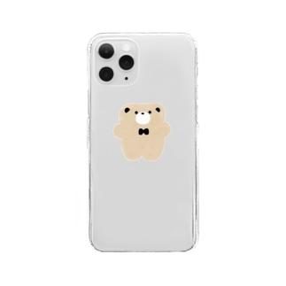 ぺたんこくまさん Clear smartphone cases