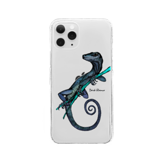 "Dark blancoのDark blanco ""Lizard"" Clear smartphone cases"