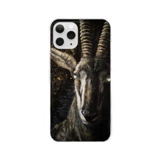 かわさきしゅんいち@絵本作家・動物画家のセーブルアンテロープ Hippotragus niger Clear smartphone cases