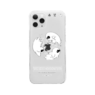 ★11Pro★ three ghosts Clear smartphone cases