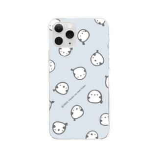 シマエナガいっぱい Clear smartphone cases