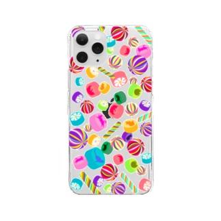 飴ちゃん クリアタイプ Clear smartphone cases