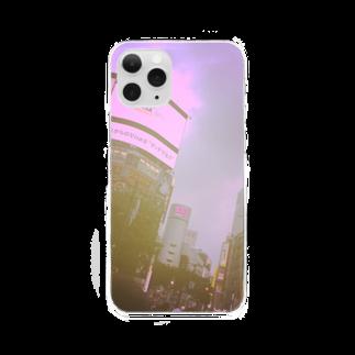 さぼてんöのシブヤなスマホケース Clear smartphone cases