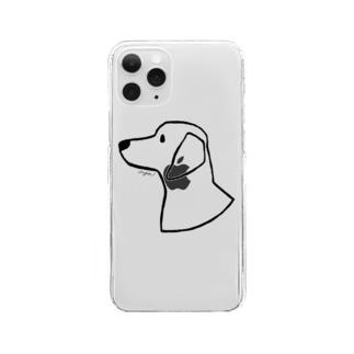 ダックスフント Clear smartphone cases