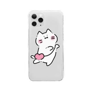 ゆきネコチャン(♥カバン) Clear smartphone cases