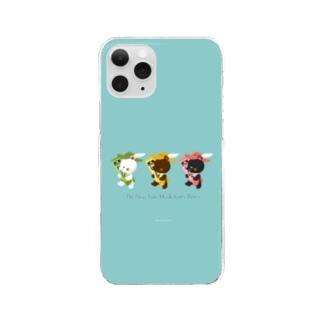 チューブ三銃士 Clear smartphone cases
