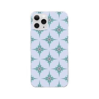 総柄ケータイカバー Clear smartphone cases