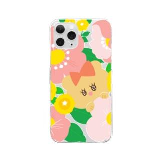 ハナとクマ Clear smartphone cases