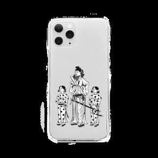手づくりはんこ史緒の【歴史人物はんこ】聖徳太子 Clear smartphone cases